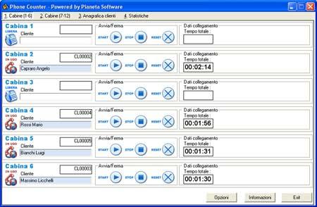 Software phone center software per la gestione dei phone for Riparazione della cabina di log